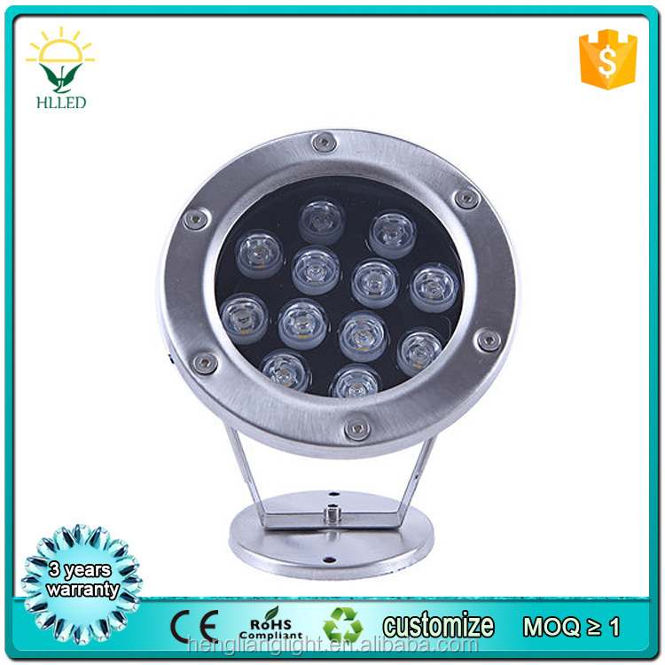 304 stainless steel outdoor garden fountain multi color IP68 3w swimming pool led underwater light