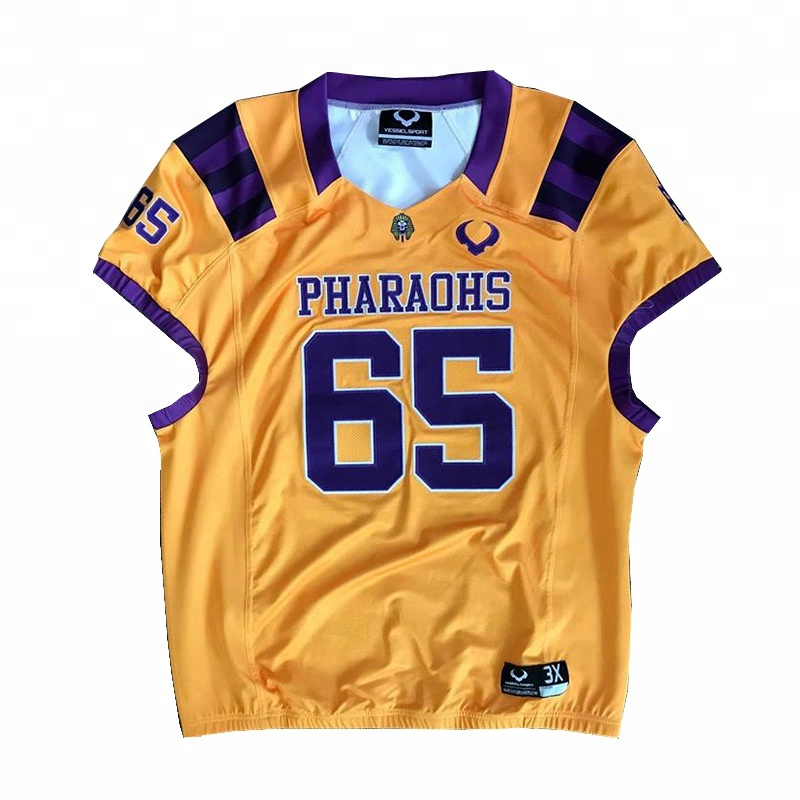 dba48daed Super quality custom tackle twill logo sublimation american football uniform