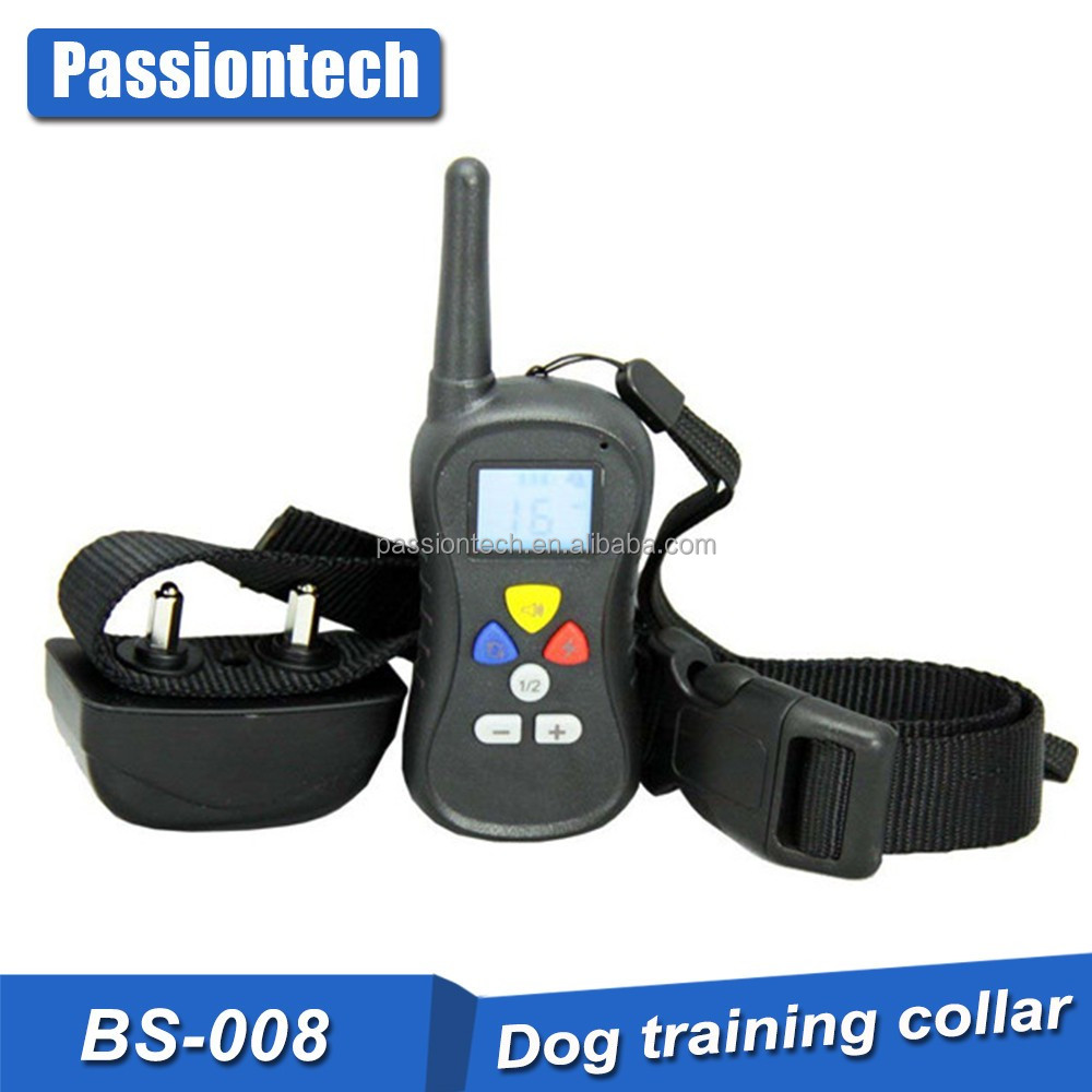400 meters pet trainer dog training collar with remote for one dog or for two dogs training system