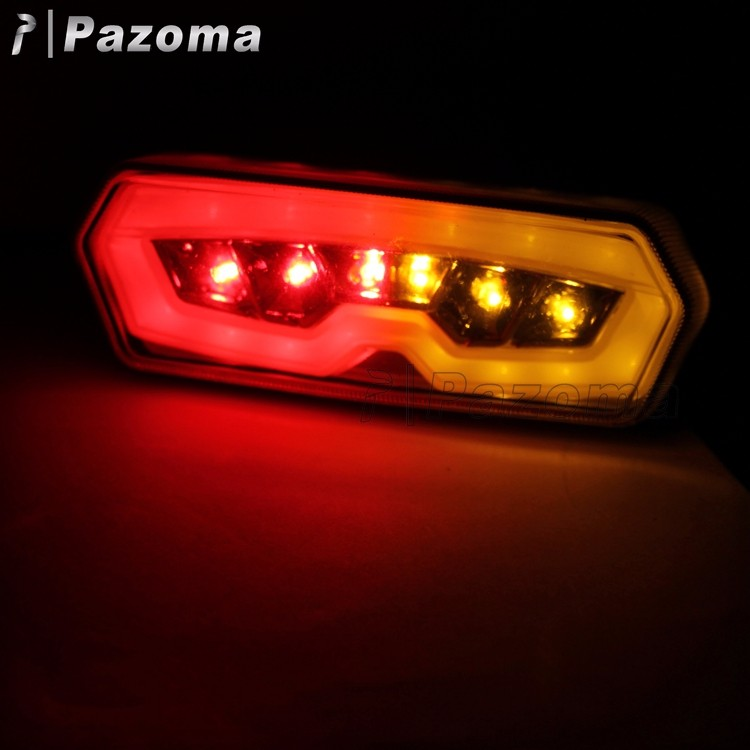 Pazoma Smoky 12V LED Motorcycle Tail Lights for HONDA CTX 700 N 2013-2015
