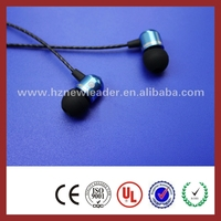 Earbuds wholesale bulk promotional custom metal earbuds with microphone