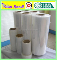 China lldpe stretch film for pallet wrapping machine use hand use pe/pvc stretch packing film