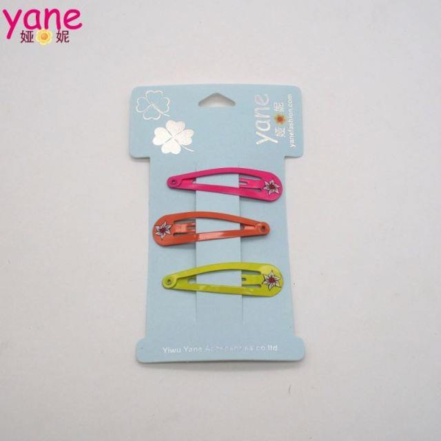 Cheap price hair extension snap clips, colored metal baby hair clips