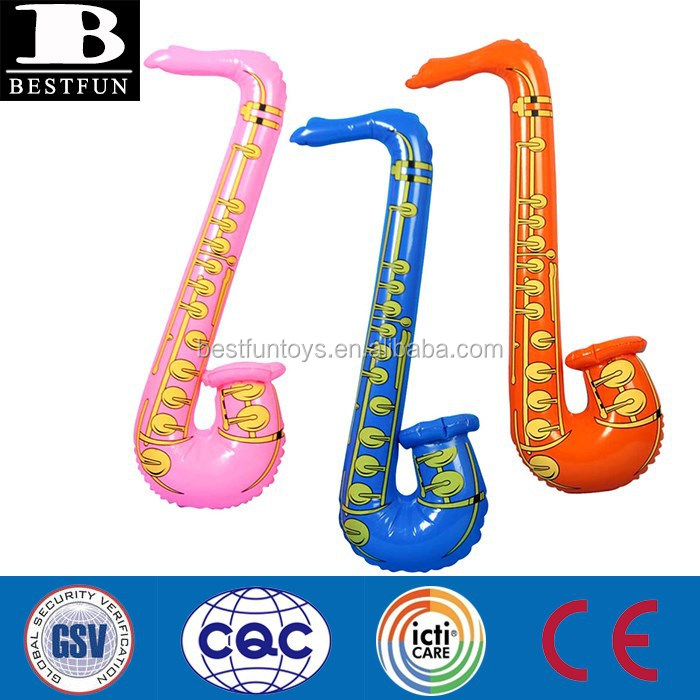 kids inflatable saxophone toys used plastic inflatable musical instruments for party