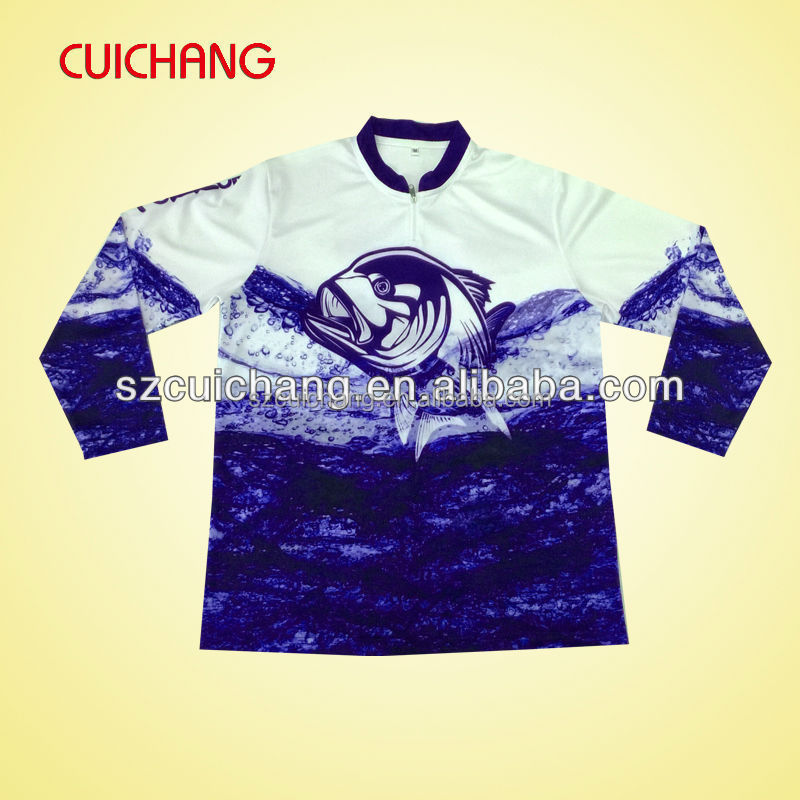 sublimated fishing shirt and tournament fishing jerseys