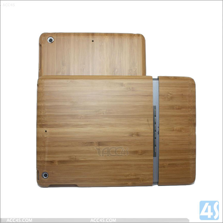 For Ipad mini 1 2 3 case wood 2 in 1 hybrid hard case