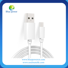White color Wholesale High Speed Colorful Data Transfer Cable 1M Micro USB 5Pin phone charging cable for Smart Phone