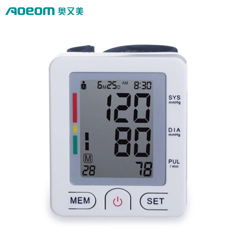 Household digital wrist FDA/CE blood pressure monitor wholesale automatic wrist watch blood pressure monitor