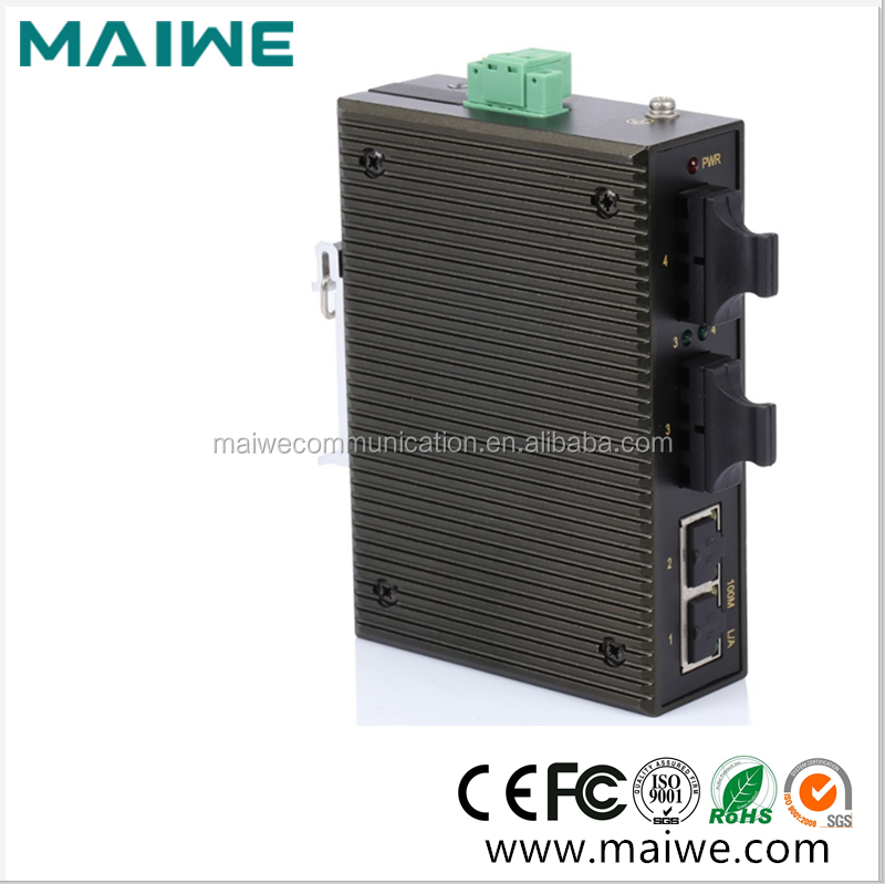 10/100Base-TX 4 port Industrial ethernet switch hub with 2 SC ports