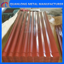 color coated corrugated aluminum roof panel