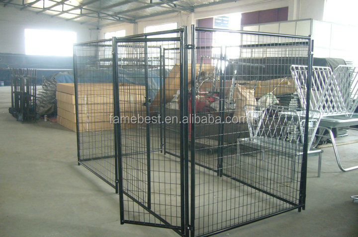 Dog cagerunenclosurefence panels buy dog kennel fence for Dog run cage enclosure