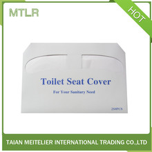 Disposable hygienic toilet seat cover with waterproof function 1/2 fold