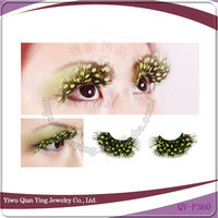 Feaher color flare model show use eyelashes