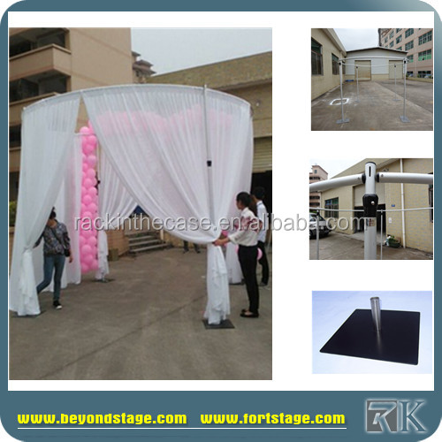RK pipe and drape for wedding wall hanging poles/wedding decoration backdrop with flower