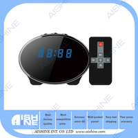 Night Enabled Motion Detect 5 MP H.264 Remote Control HD Camcorder 1080p HD Mini Clock Hidden Nanny Camera