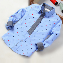 top name brand children corduroy dress new style patter boys shirts