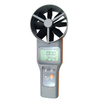 AZ8916 Precision Wind Speed Digital Temperature Anemometer Meter Air Flow Measuring Instrument With Optional Wind Shield