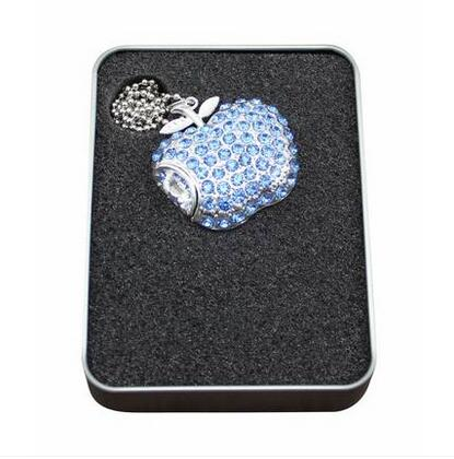 jewelry usb fruit shape diamond usb flash drive lovely 8gb for christmas gift