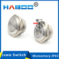 304 stainless steel material LED switch momentary waterproof IP65 with LED flat head