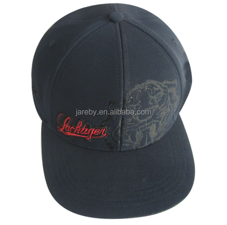 high quality custom hip hop flat brim flexfit hat