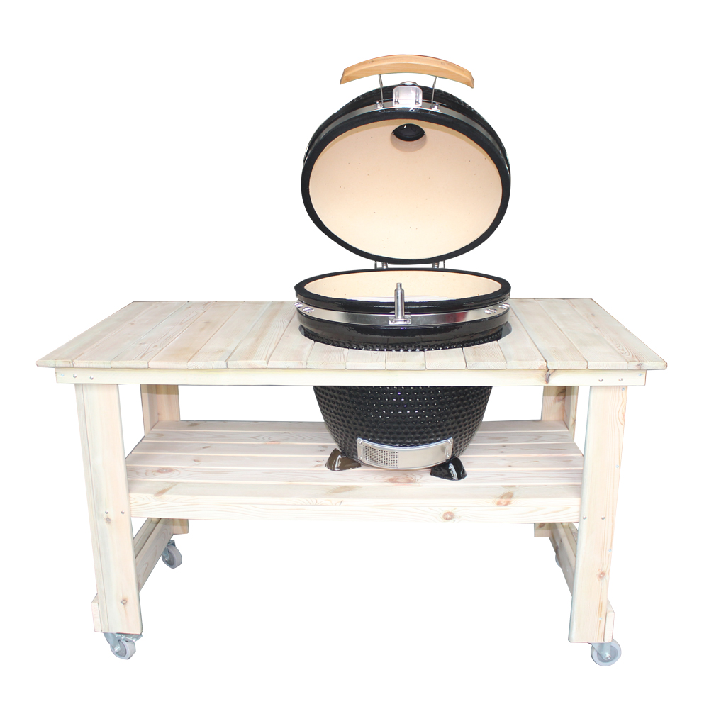 Best Outdoor Cooking Ceramic Egg Kamado Barbecue Charcoal Grill With Wooden  Table   Buy Ceramic Egg Barbecue,Best Kamado Grill,Charcoal Bbq Product On  ...