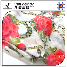 China supplier lasted design polyester solid color/jacquard cut velvet fabric