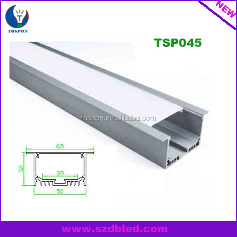 Recessed Linear Flanged Led Aluminium Led Lighting Strip Extrusion Profileled strip holder For Ceiling And Recessed Wall Light