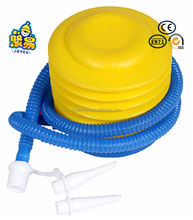 Compressed plastic foot air pump for ballon inflatable foot pedal air pump
