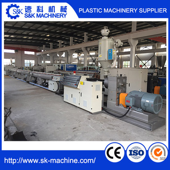 HDPE Plastic Pipe Extrusion Line Prouduction Line PE Pipe Making Machine