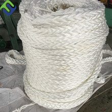 Yield strength 12 strand 120mm polypropylene/pp plastic braided marine color rope
