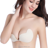 ladies evening dress Self Strapless Adhesive Bra Cup Breathable Silicone stick on Push Up bra