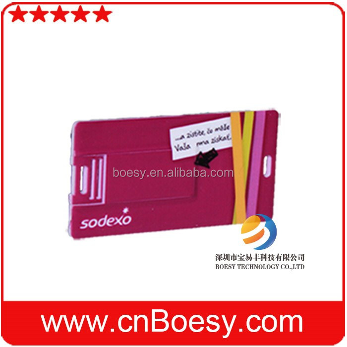 Slim credit card USB full-color printing webkey network disk