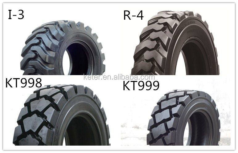 Alibaba China Cheapest Solid Skid Steer Tyre 10-16.5 12-16.5