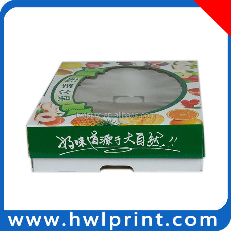Corrugated Board Paper Fruit Packaging Box With Print On The Top