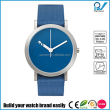 Stainless steel case nylon strap Japan quartz movement 3ATM water resistant minimal style watch