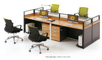 2.4 meter Insurance company wooden office cubicle call center furniture(FOH-SS40-2812)