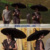 Lday's Model Fashion Design Straight Pagoda Parasol Umbrella