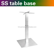 Stainless steel table leg height adjuster