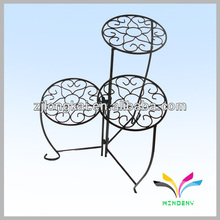 Decorative garden 3 tier metal flower pot stand for garden supply