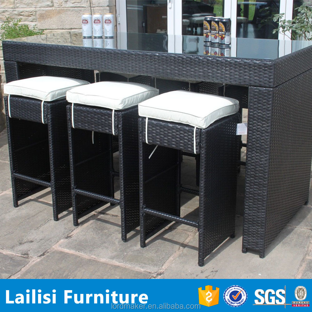 Patio rattan chairs and tables bar stool footrest covers for Outdoor furniture covers bar stools