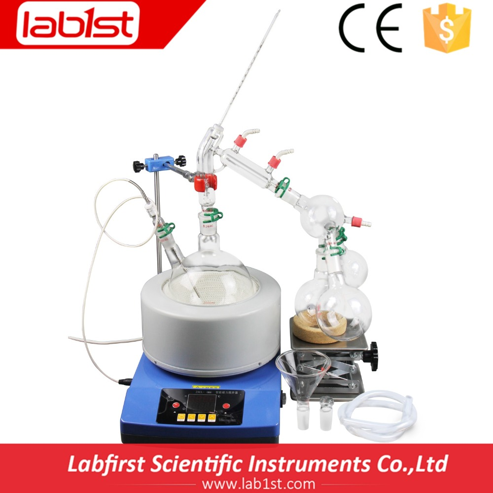 Lab scale short path distiller with high quality vacuum pump for sale