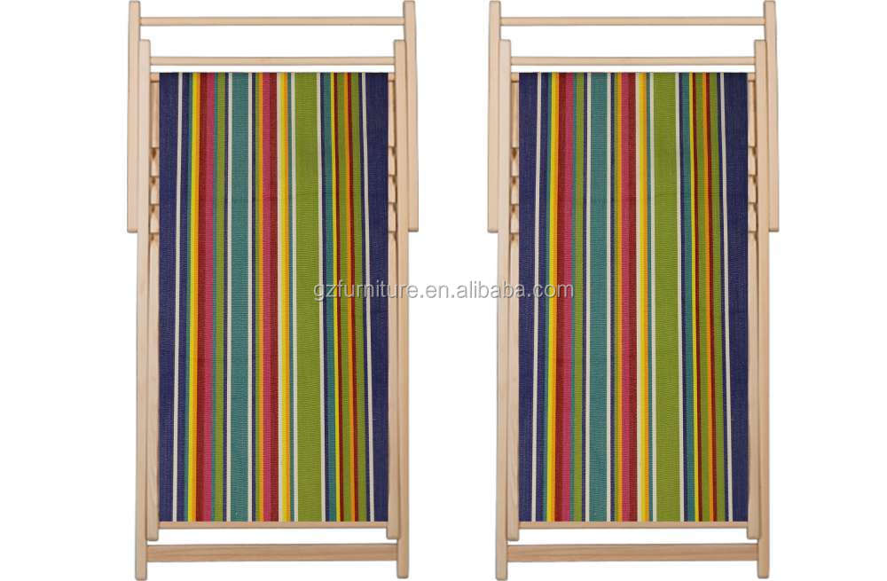 Foldable wooden canvas deck chair Guangzhou
