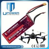 Upower 14.8v soft pack composed type rc lipo battery for UAV drone multirotor RC model