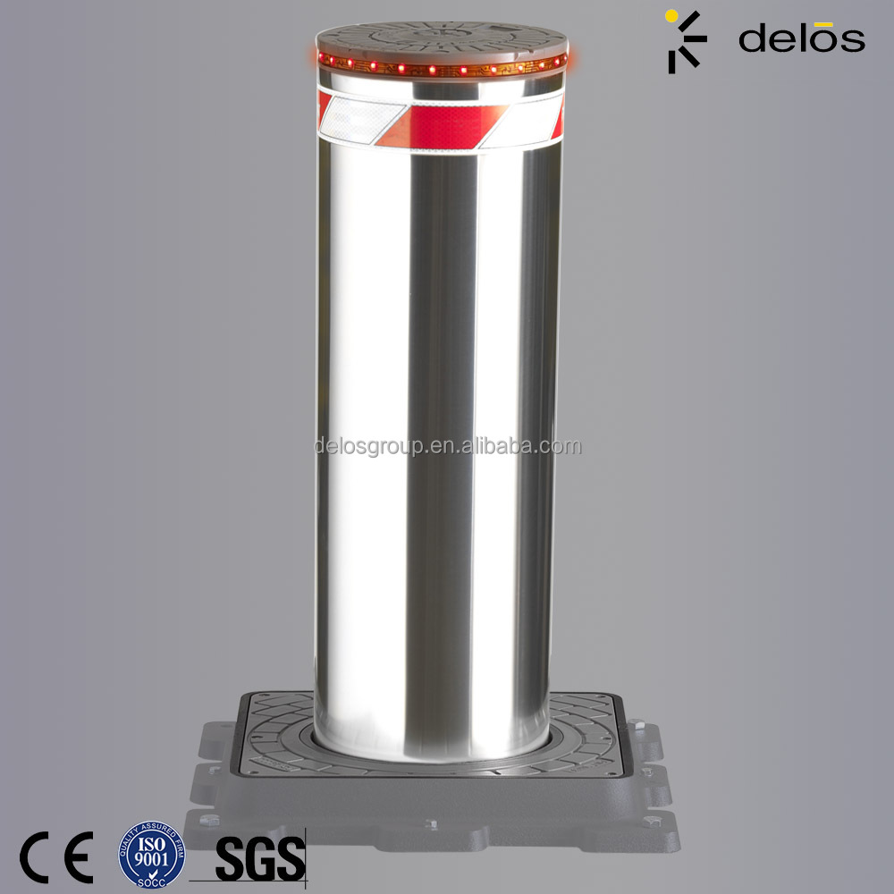 access control system lifting hydraulic road bollard