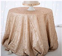 wedding rose gold sequin tablecloth
