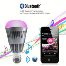 Phone Control Colorful Music LED Light Bulb Bluetooth Speaker 2 IN 1 Portable Music Smart RGB Bubble Lamp 6W for iPhone Samsung