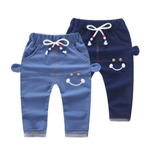 Fashion Denim Kids Trousers Toddlers Infants Baby Boy Harem Pants