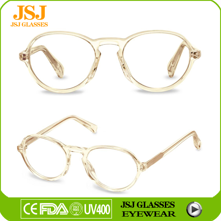 Kids spectacle frames pure acetate transparent reading glasses frames