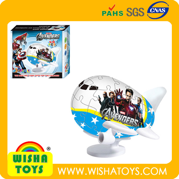hot toy! super airplane style lovely cartoon 3D puzzle