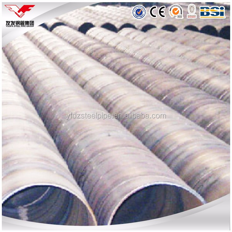 Cold formed ASTM A53 Grade B LSAW welded round steel pipe / tube for building